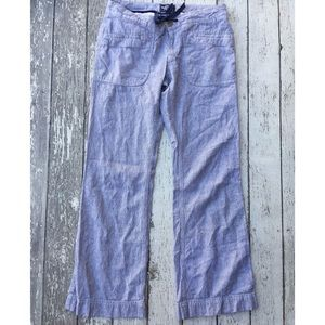 The North Face Pants - The North Face Larison Linen Pants Pinstripe Blue